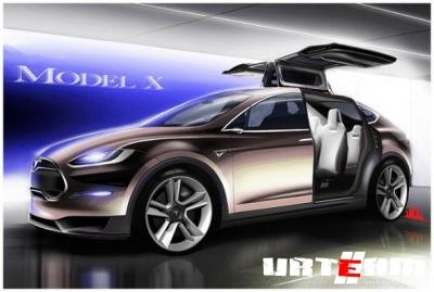 Электрический внедорожник Model X от Teslа
